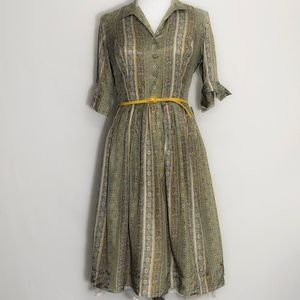 Ann Taylor 50th Anniversary Retro 1950s Silk Dress
